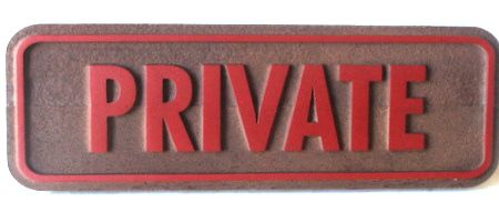 KA20574 - Carved Wood Private Office Sign