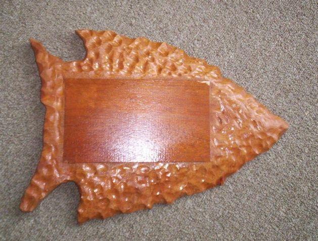 M3952 - Carved Cedar Wood Wall Plaque in Shape of Fish with Scales (Gallery 22)
