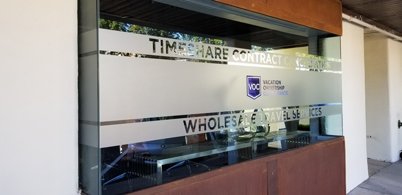 Etched vinyl window graphics | Scottsdale AZ
