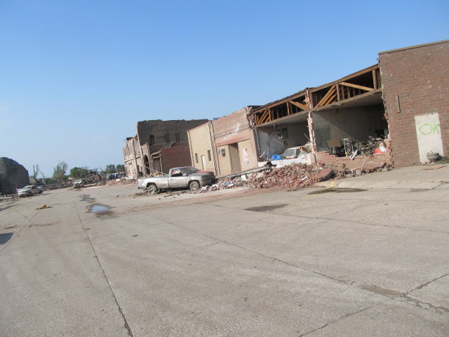 Downtown Pilger, NE after tornado