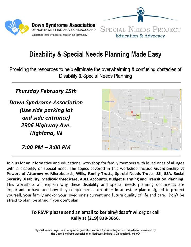 Disability and Special Needs Planning Informational