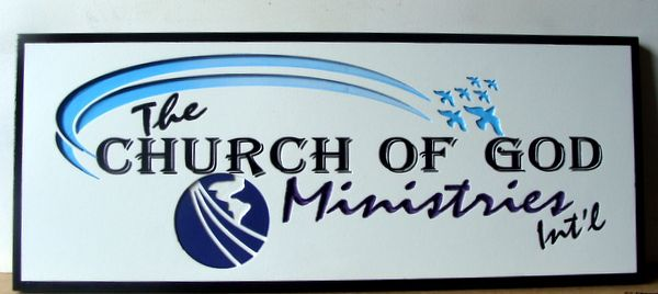 D13084 - Engraved HDU Sign for Church of God Ministries