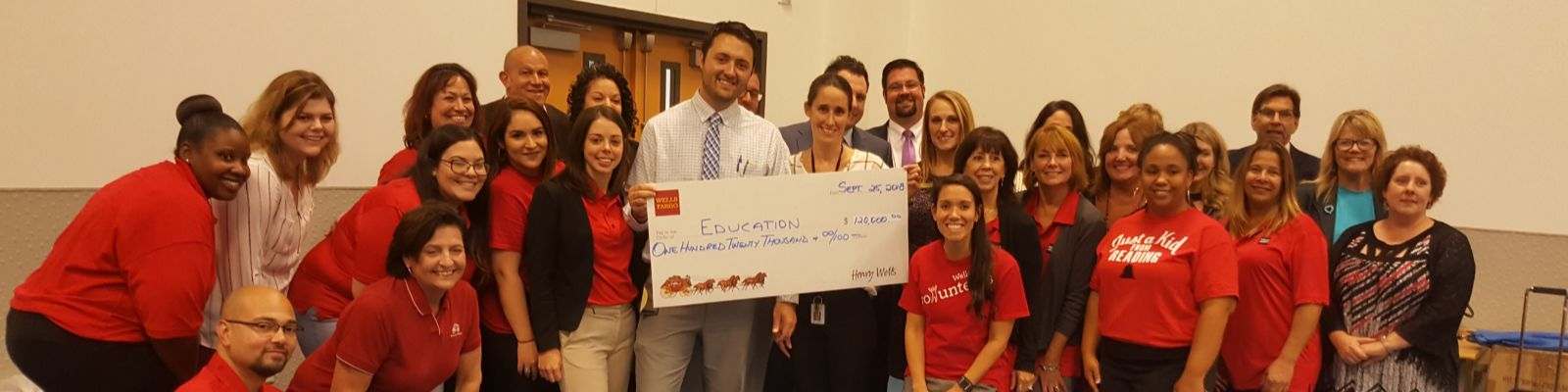 Wells Fargo Donation at Amanda Stoudt School in the City of Reading