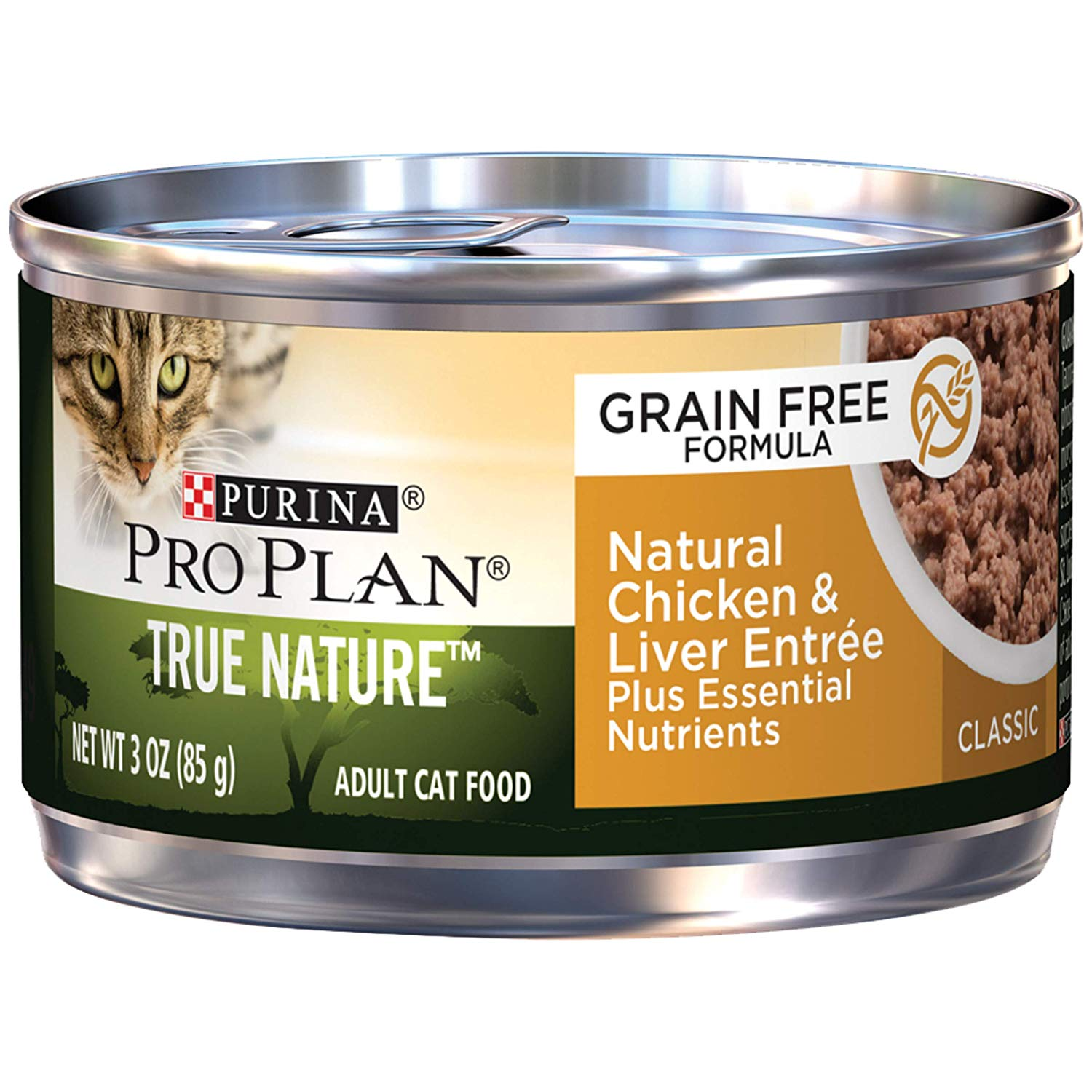 Purina Pro Plan Natural, Grain Free Pate Wet Cat Food, Chicken & Liver Entree