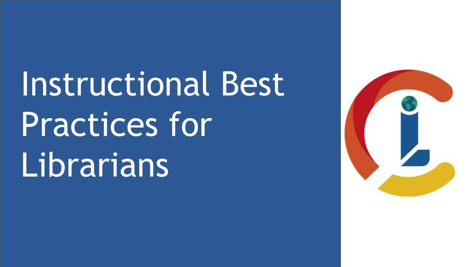 Instructional Best Practices for Librarians