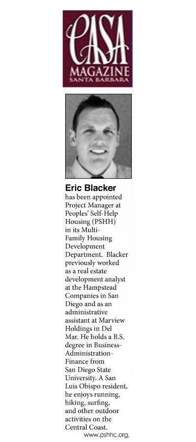 Eric Blacker - CASA Magazine