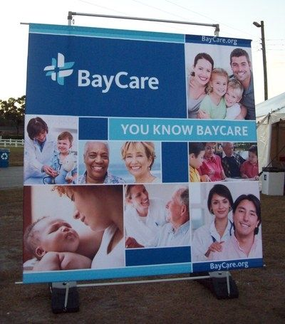 Large Outdoor Banner with Stand