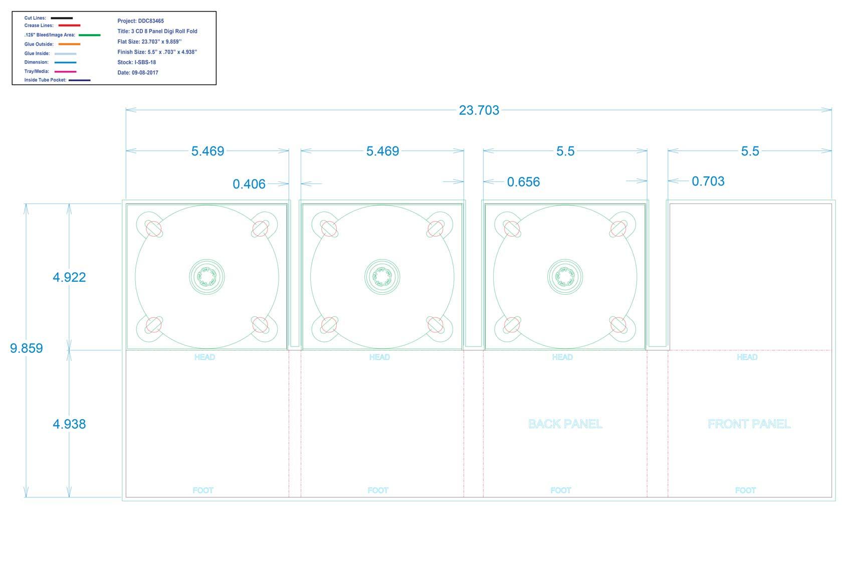 DDC83465 8 Panel Digi 3 Tray, No Pocket