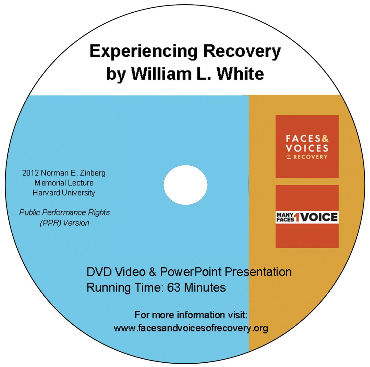 Experiencing Recovery, William L. White DVD - Public Performance Rights (PPR) Version