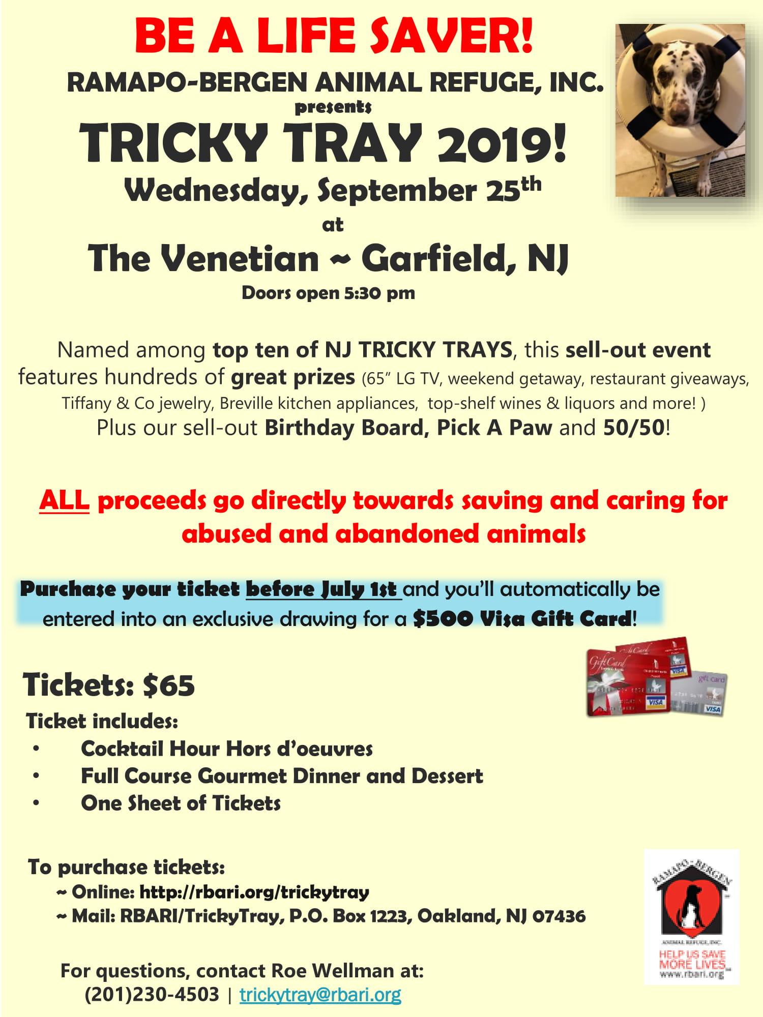 RBARI Annual Tricky Tray 2019