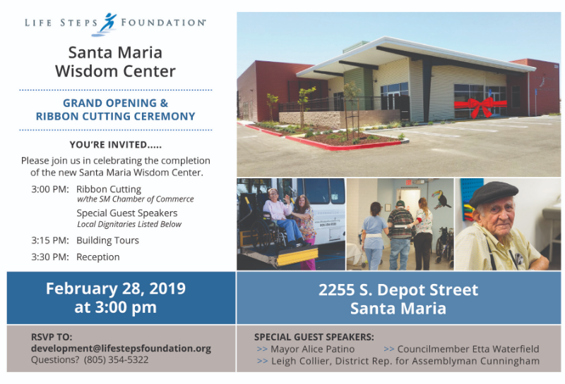 Santa Maria Wisdom Center Ribbon Cutting Ceremony