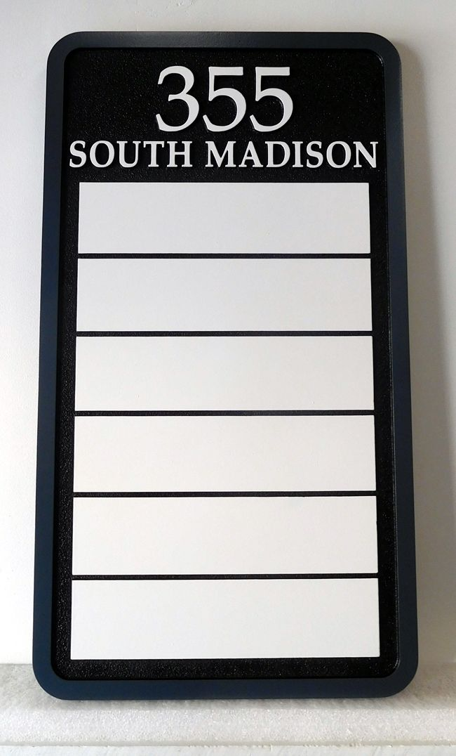 C12029 - Business Directory Sign with Changeable Business Name Plaques