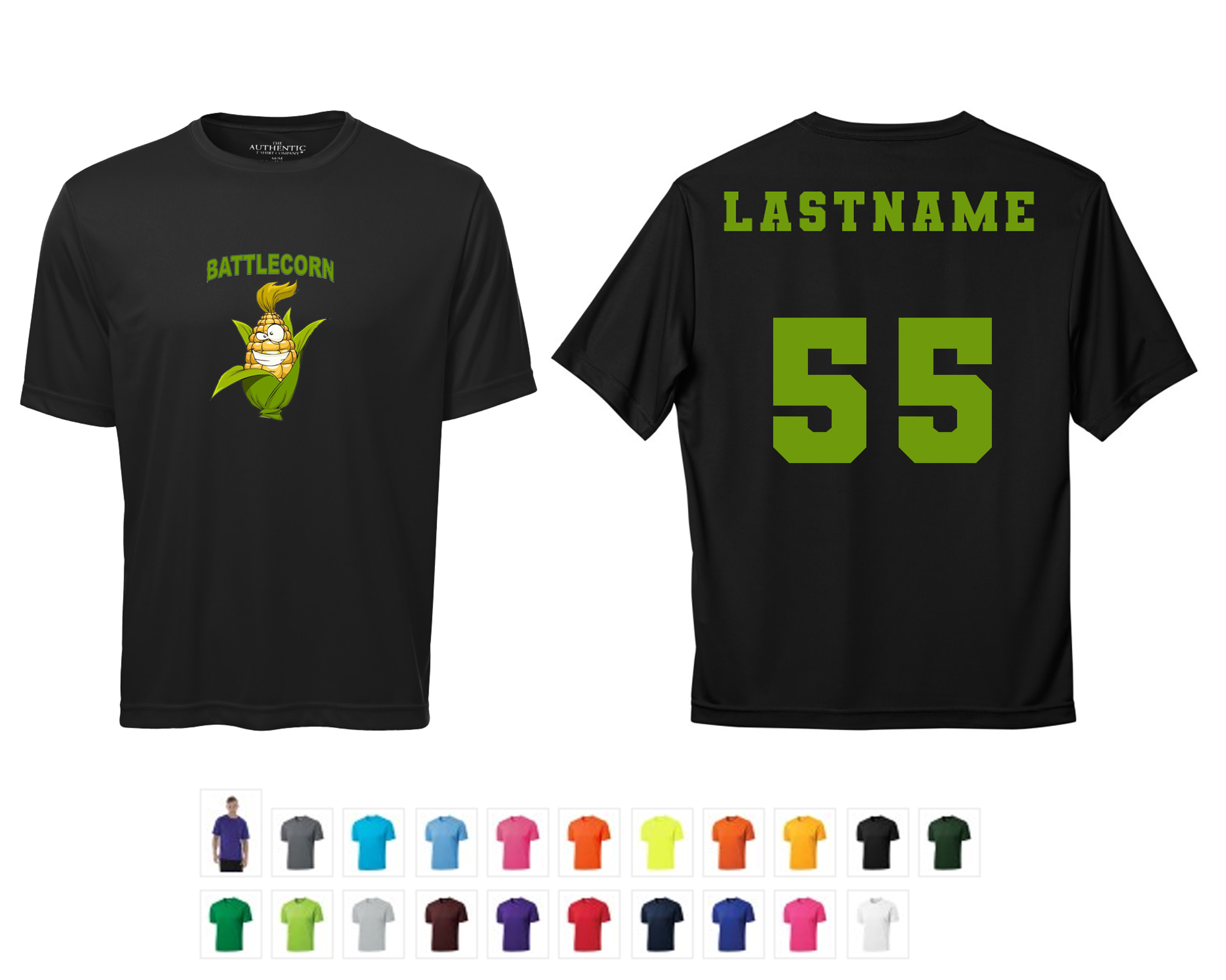 Team T-shirt (Dry fit style) with Last Name & Number