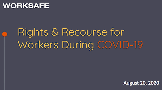 Rights & Recourse for Workers During COVID