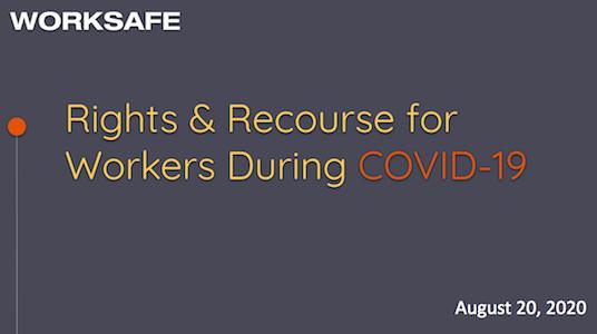 权利 & COVID - 19期间员工的求助
