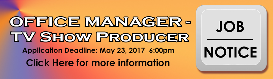 Job Notice - Office Manager_TV Show Producer