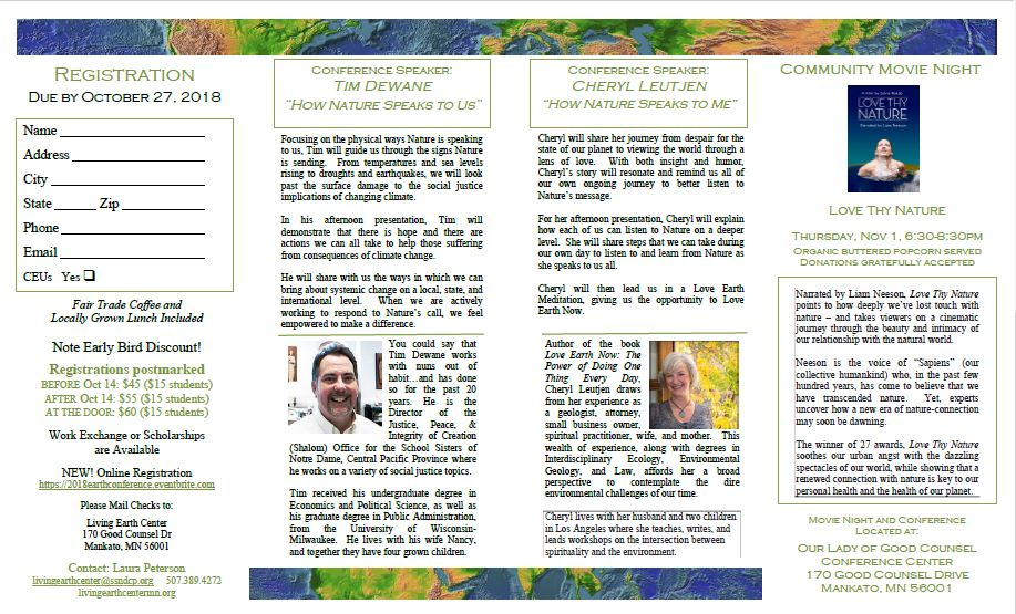 Earth Conference Brochure