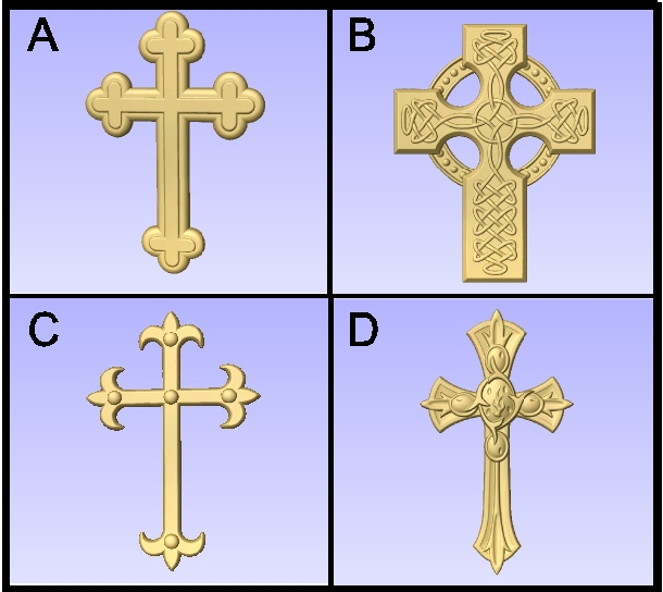 D13402 - Examples of Carved Crosses