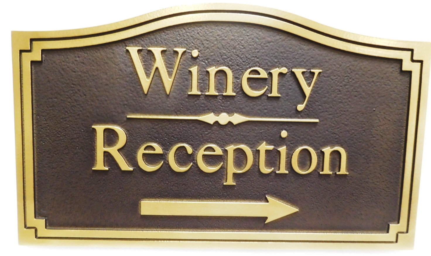 R27500 - Carved HDU Sign for the Reception Area of a Winery