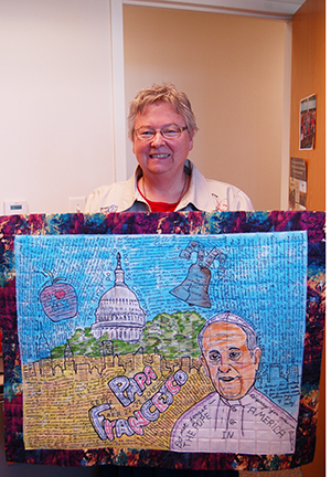 Pope Francis Art Quilt Commemorates Visit to the U.S.