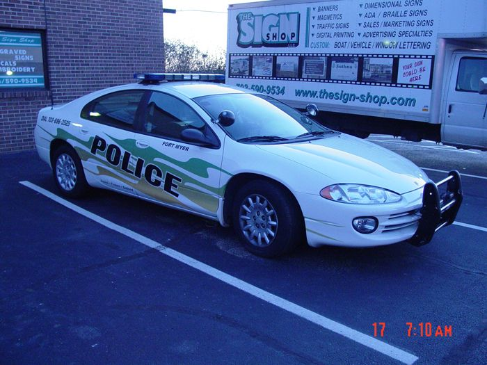 Fort Myer Police Car Graphics