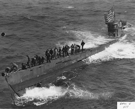 1944: U-505 Captured by U.S. Navy Task Group.