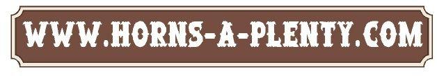 """O24964 - Design of HDU or Wood Sign for """"Horns-A-Plenty.Com"""" Ranch"""