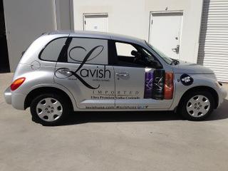 Vehicle graphics for Orange County