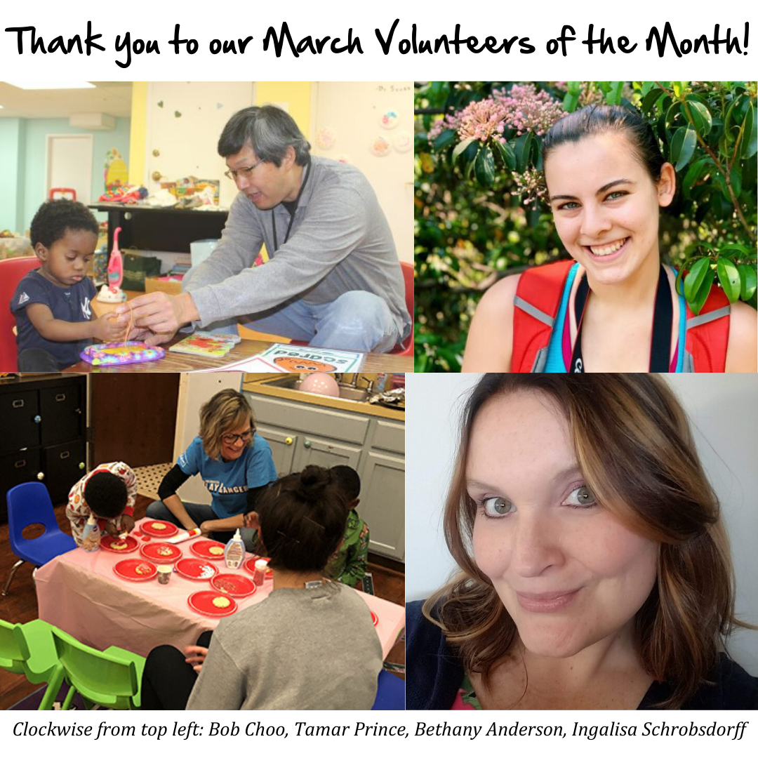 Meet All of Our March Volunteers of the Month