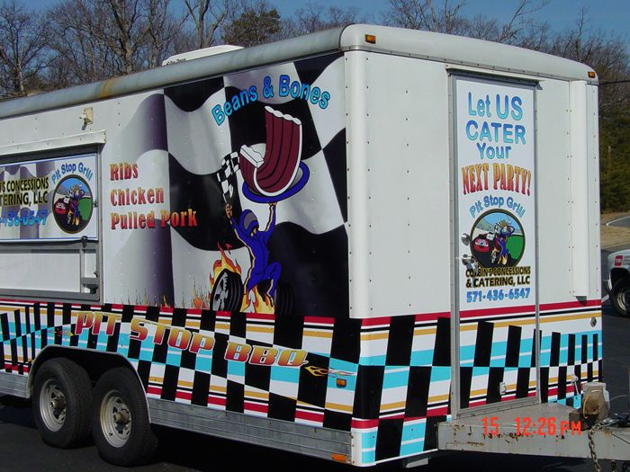 Pit Stop Grill Trailer Graphics