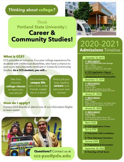 Thinking About College? Think PSU's Career & Community Studies!