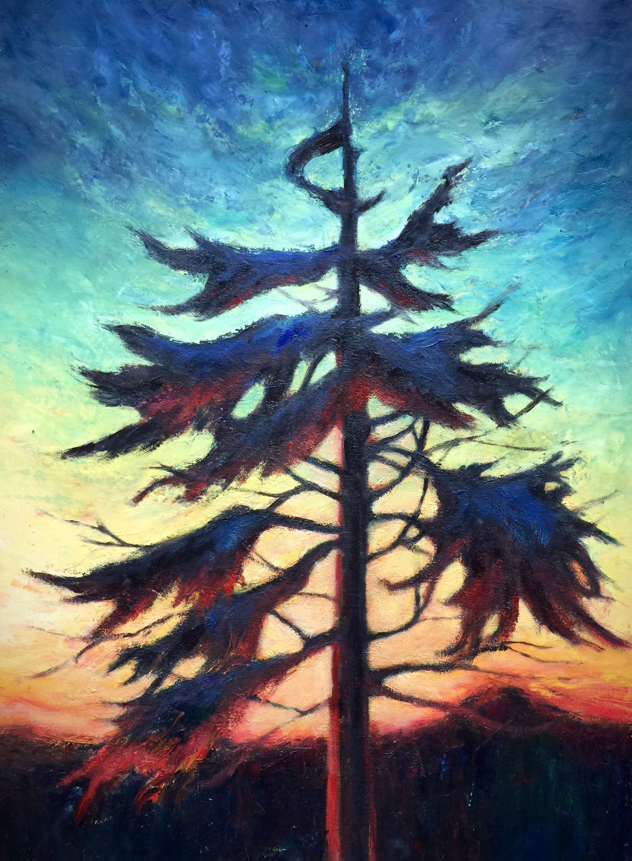 "Marilyn Lee - "" Western Hemlock, Muskeg by Point Higgins School II"""