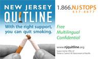 MQC for Families: NJ Quitline Postcard