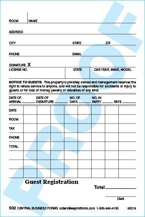 Standard 502 Form