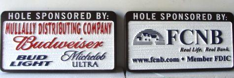 E14575 - Sandblasted HDU Golf Hole Sponsor Signs