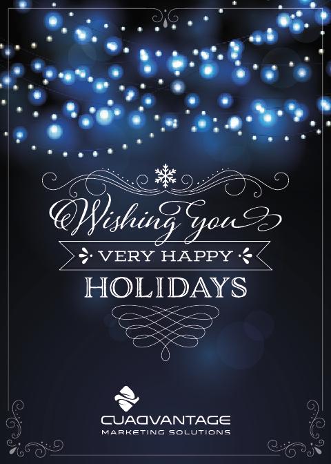 Holiday Card (blue lights)