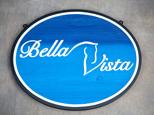 P25206 - Bella Vista Horse Ranch Entrance Sign