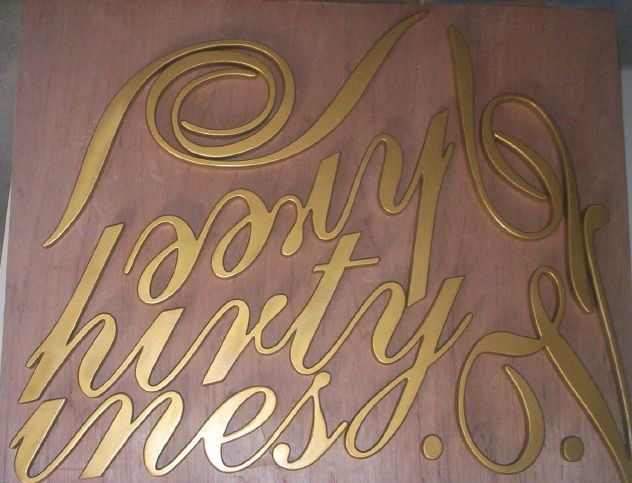 R27041 - Cutout Script Letters for a Large Winery Sign