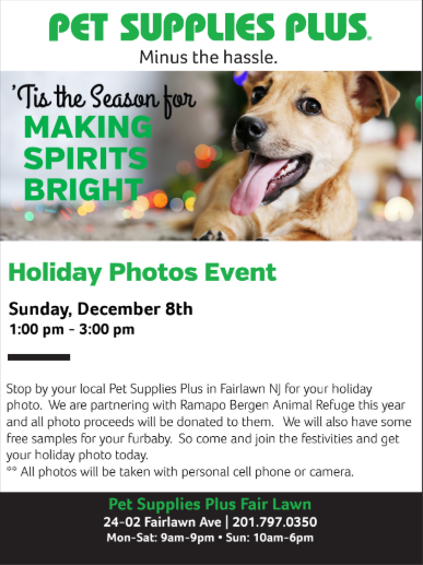 Pet Supplies Plus Holiday Photos Event!
