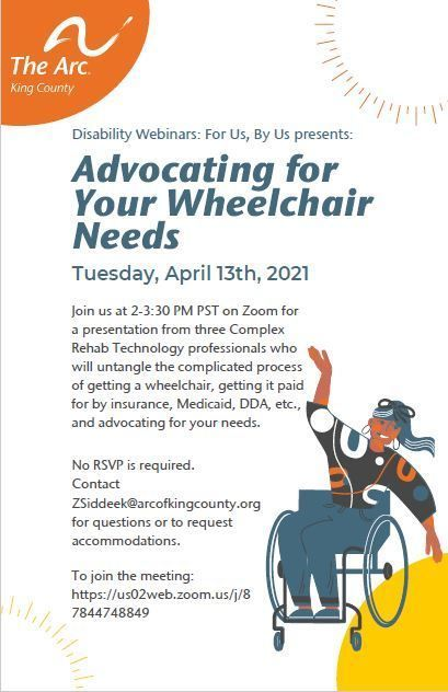 Disability Webinar For Us, By Us: Advocating for Your Wheelchair Needs