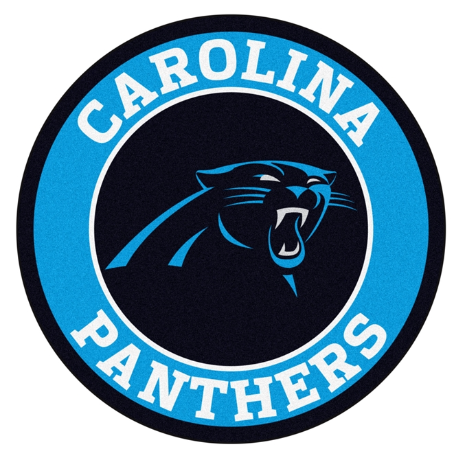 WP-1080- Carved Wall Plaque  of Logo for Carolina Panthers  NFL,  Artist Painted