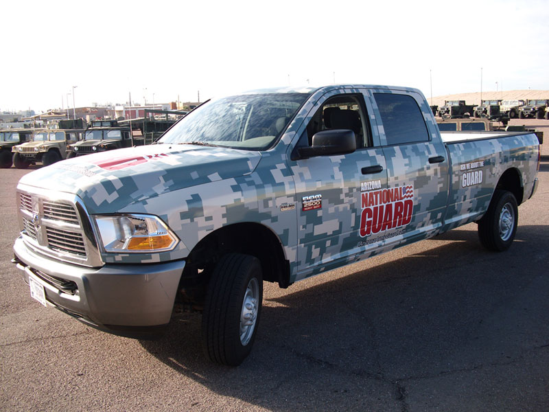 National Guard Truck Wrap