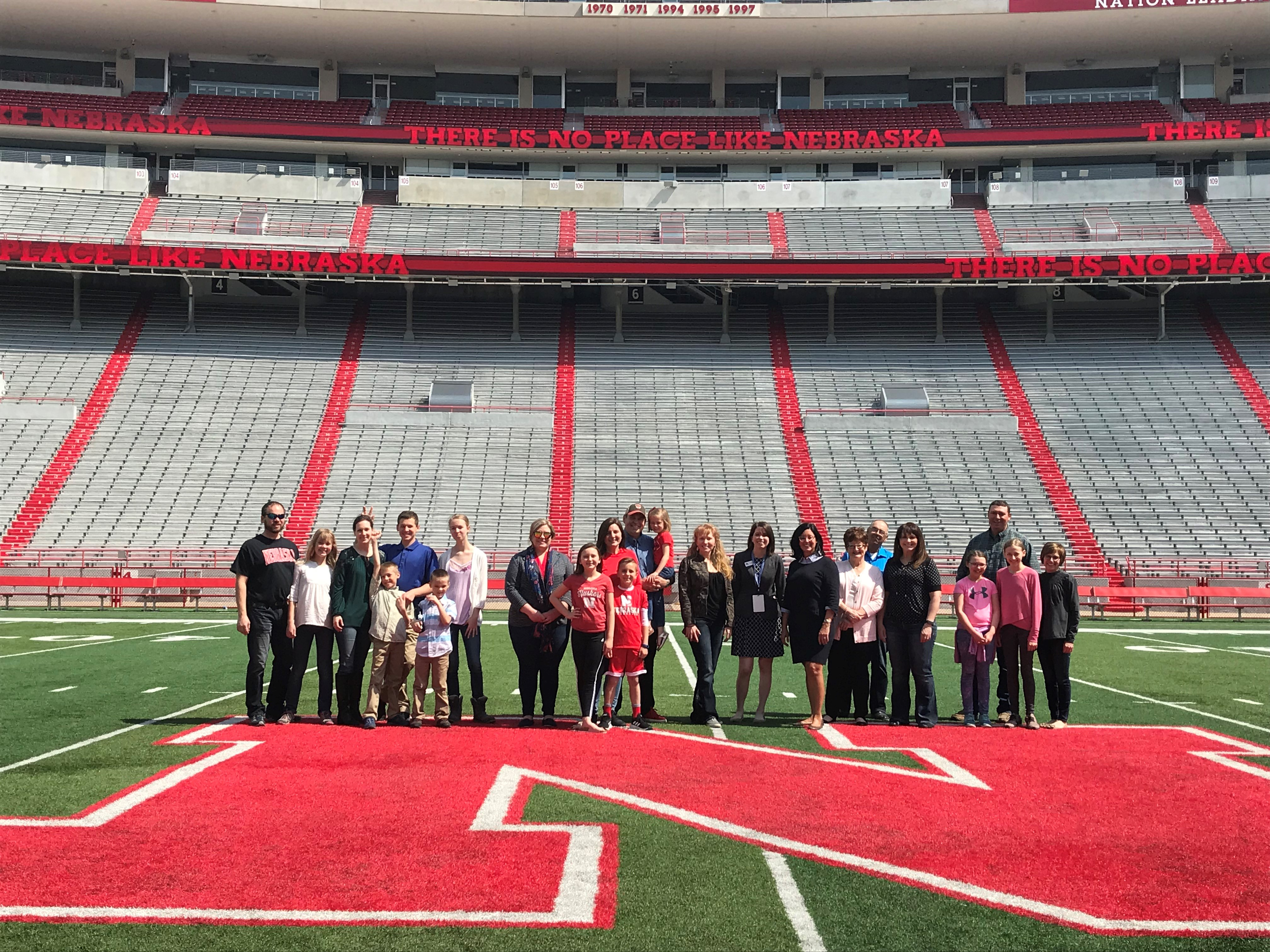 Memorial Stadium Tour Group