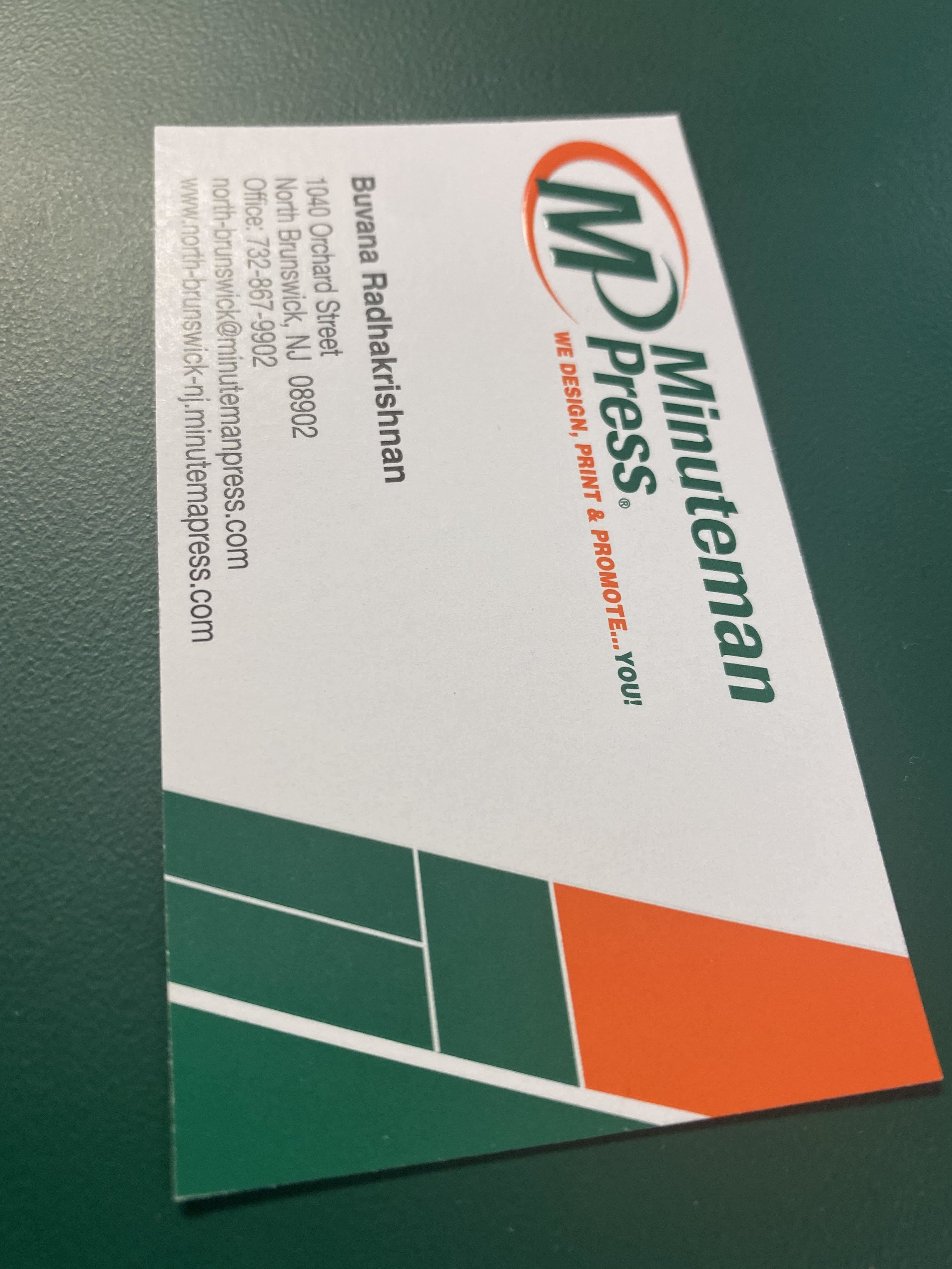 Business Card with Foil Finish