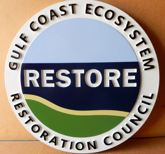 "G16243 - ""Restore"" All-Weather Sign for Gulf Coast Ecosystem Restoration Council"