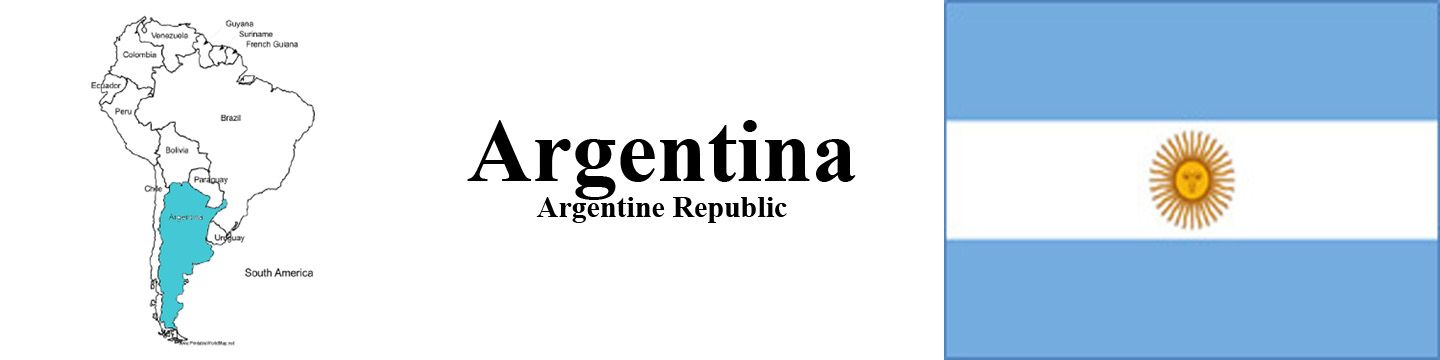 Argentina Map and Flag