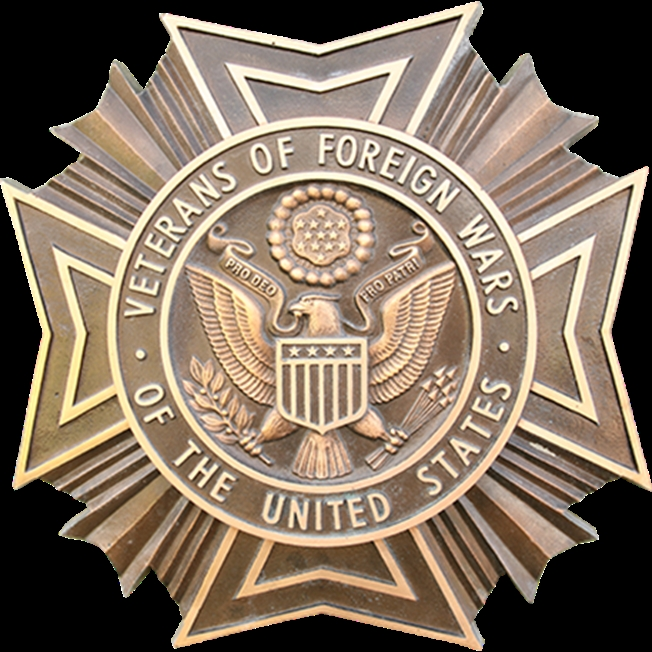 MH8065 - Cast Bronze Plaque of Veterans of Foreign Wars Badge / Emblem, 3-D