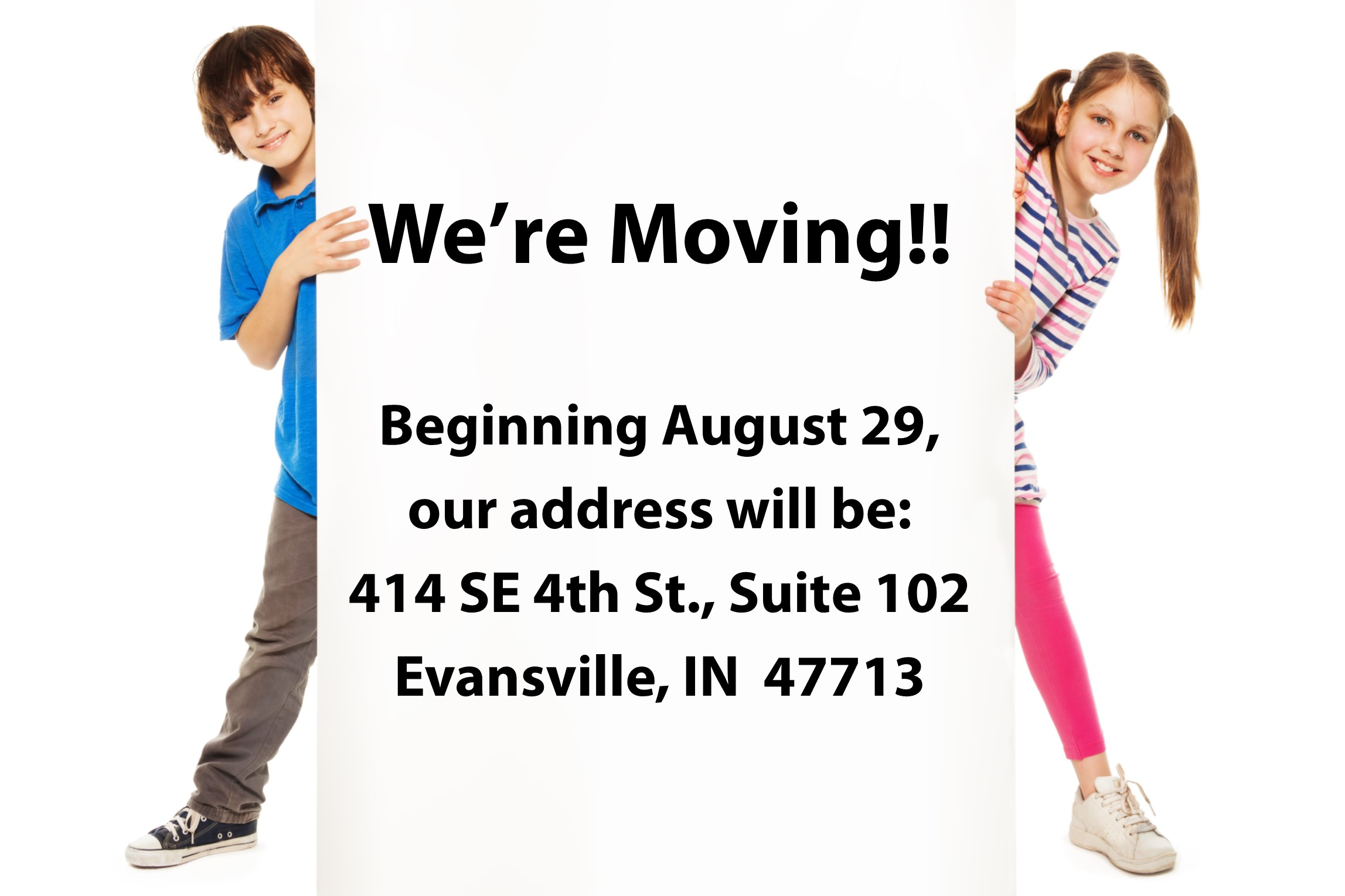 Visit us at our new location on August 29th!