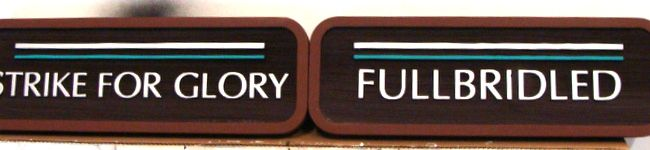 V31823 - Small Carved HDU  Motto Plaques