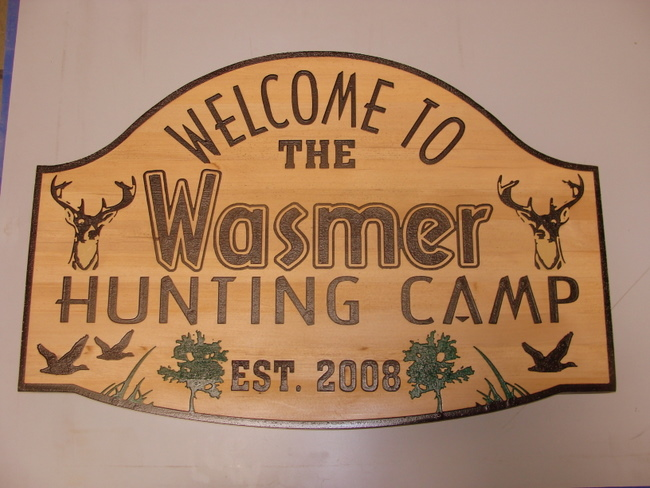 M3081 - Cedar Hunting Camp Sign (Gallery 21)